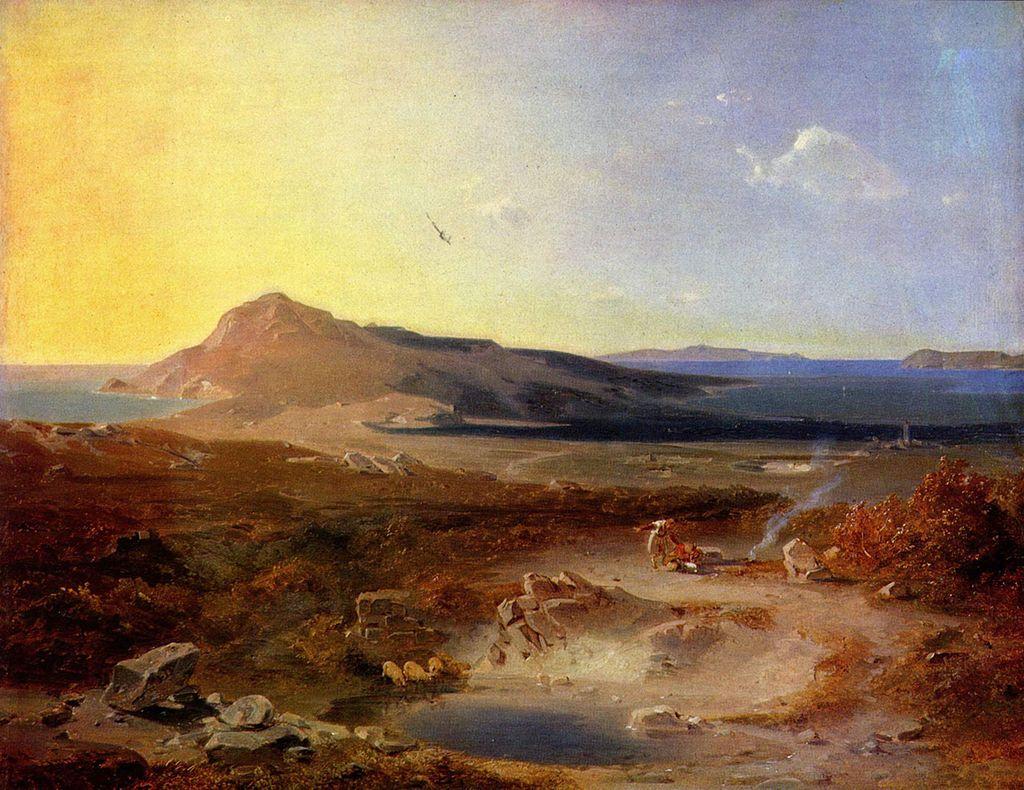 """""""Остров Делос"""". Карл Антон Йозеф Ротман, 1847"""