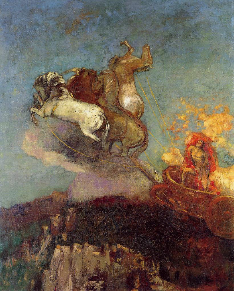 """Одилон Редон, """"Колесница Аполлона"""".  Пастель, бумага, 1907-1908"""