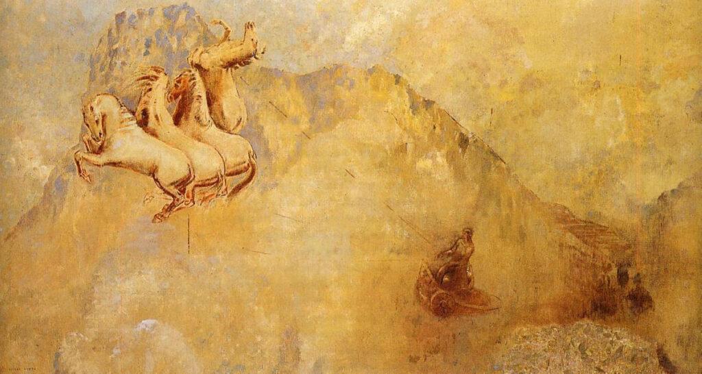 """Одилон Редон, """"Колесница Аполлона"""". Холст, масло, 1912"""