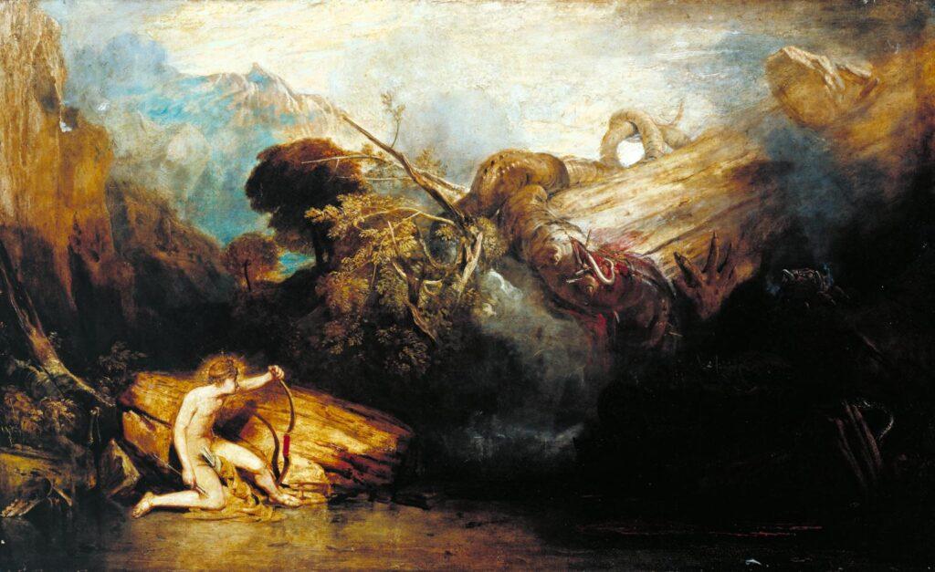 "Джозеф Тёрнер, ""Аполлон и Пифон"". Холст, масло, 1802-1811"