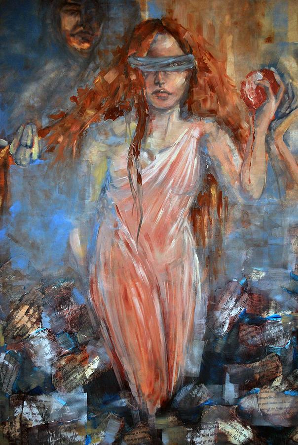"Даниэлла-Мари Палиш, ""Персефона и Аид"". Дерево, масло, 2014"