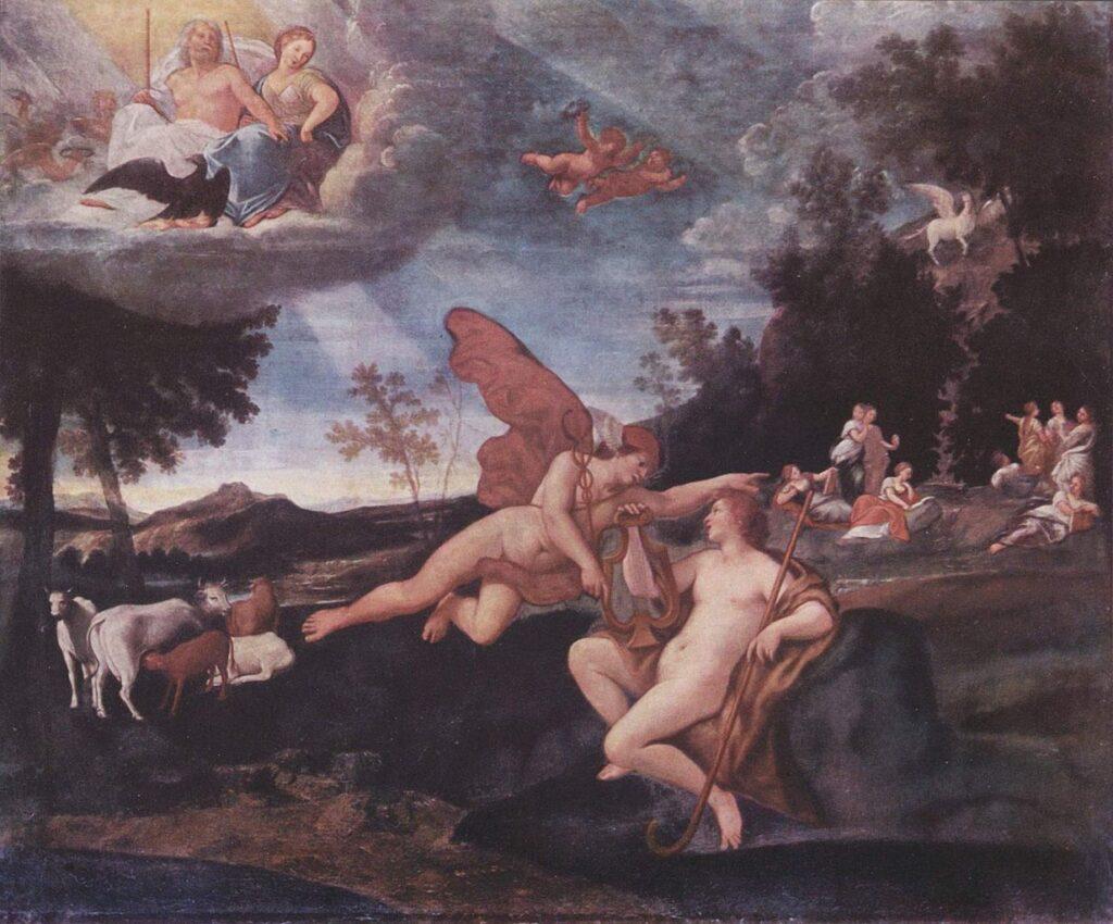 """Франческо Альбани, """"Аполлон и Гермес"""", 1635"""