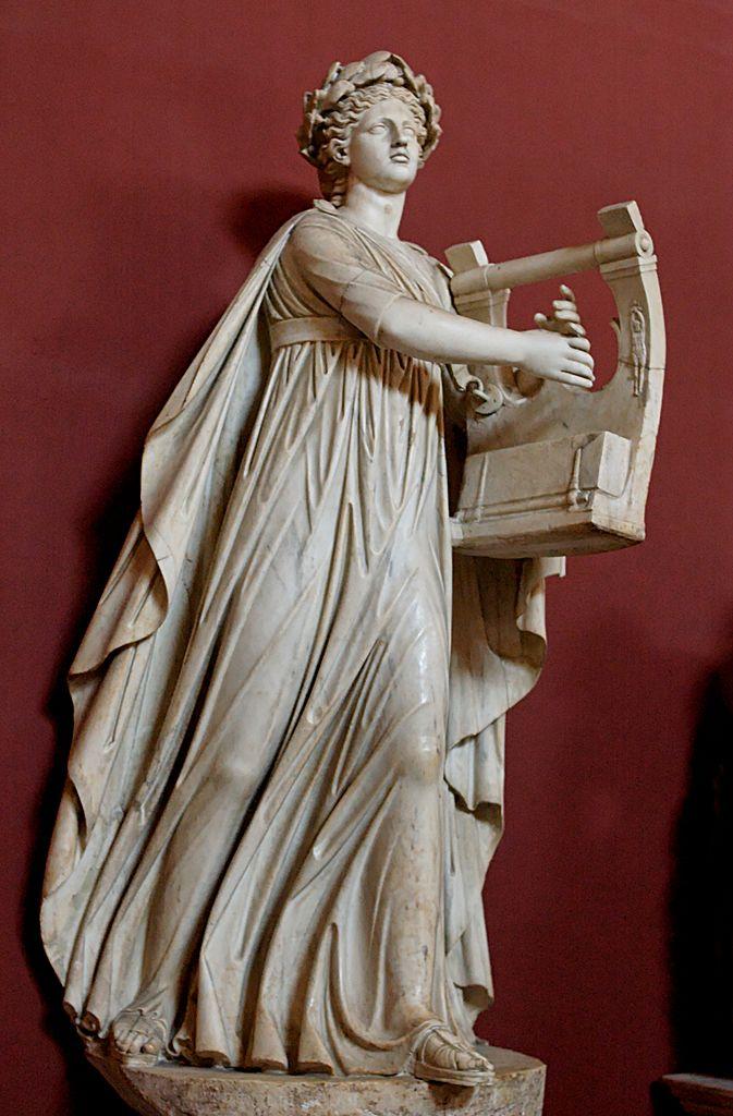 Аполлон - Кифаред и Мусагет. Римская мраморная статуя II века н.э.