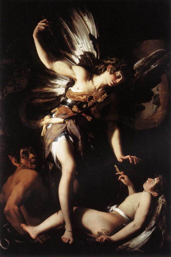 """Джованни Бальоне, """"Небесный Амур побеждает земного"""". Холст, масло, 1602"""