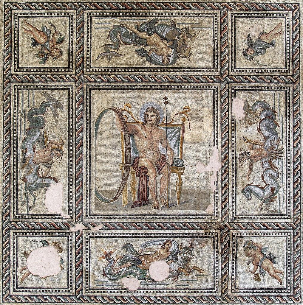 Франко-римская мозаика с изображением бога Эона из Дома Эона в Арле, II в. н.э.