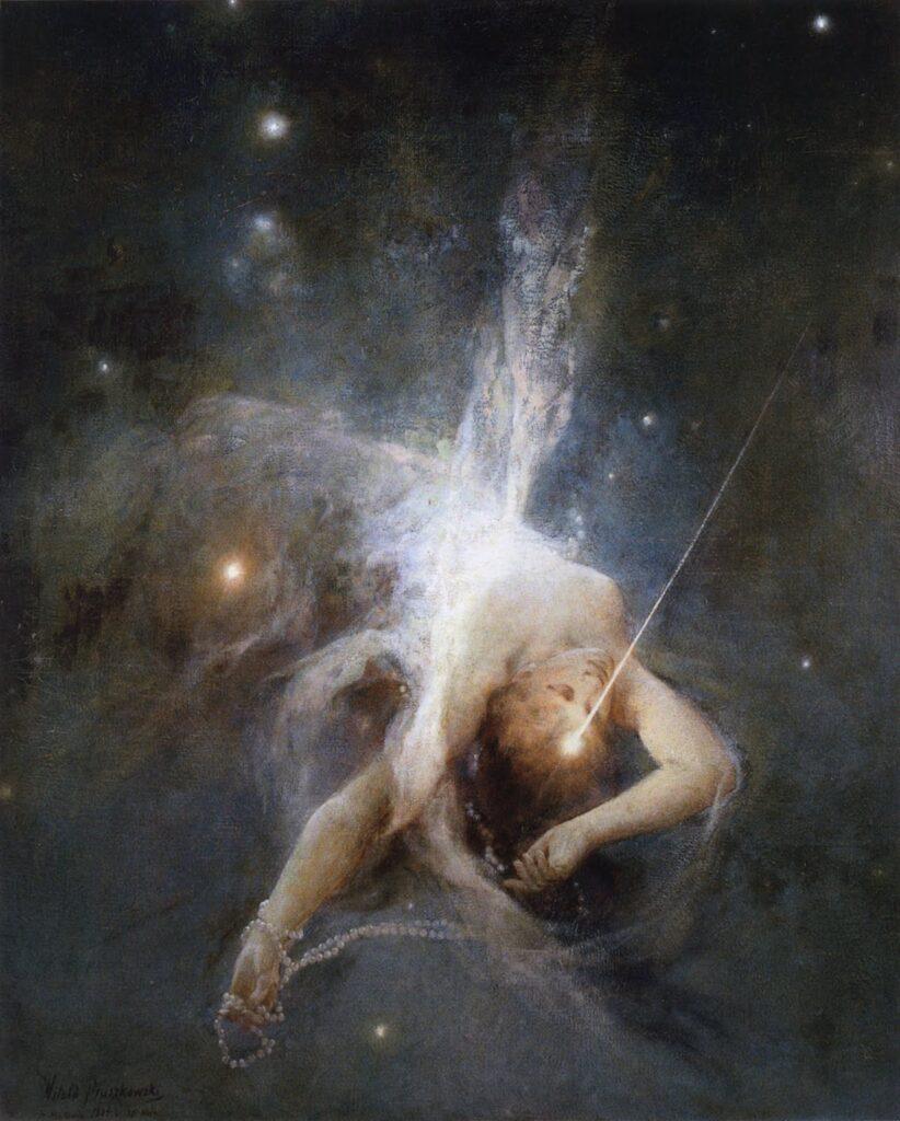 """Витольд Прушковский, """"Падающая звезда"""", 1884"""