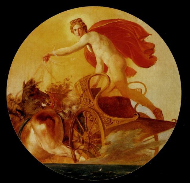 """Карл Брюллов, """"Феб на колеснице"""". Холст, масло, 1846 (?)"""