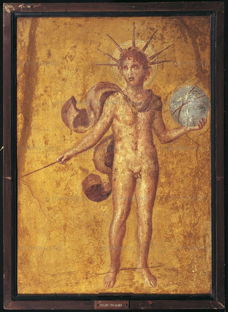 Гелиос-Аполлон со сферой, I в. н.э., Помпеи